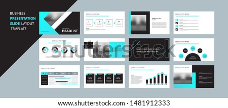 business presentation design template and page layout design for brochure ,book , magazine, annual report and company profile , with infographic  elements design concept
