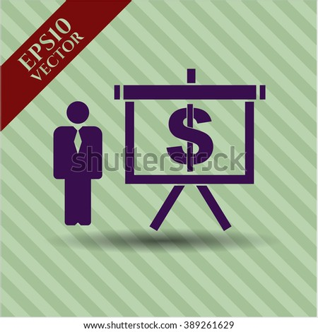 Business Presentation high quality icon