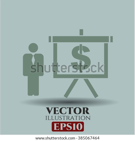 Business Presentation icon vector illustration