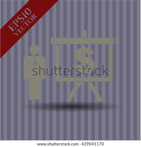 business presentation icon vector symbol flat eps jpg