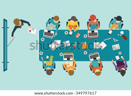 business presentation  office