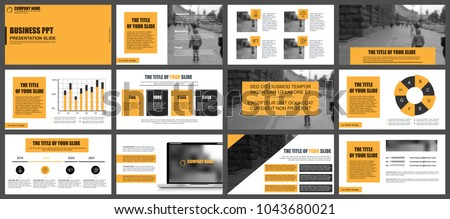 Business presentation slides templates from infographic elements. Can be used for presentation, flyer and leaflet, brochure, corporate report, marketing, advertising, annual report, banner, booklet. #1043680021