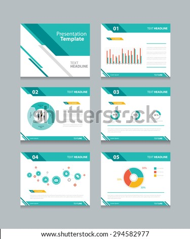 Shutterstock business presentation template set.powerpoint template design backgrounds