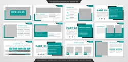 business presentation template with minimalist style and clean layout use for business proposal and annual report