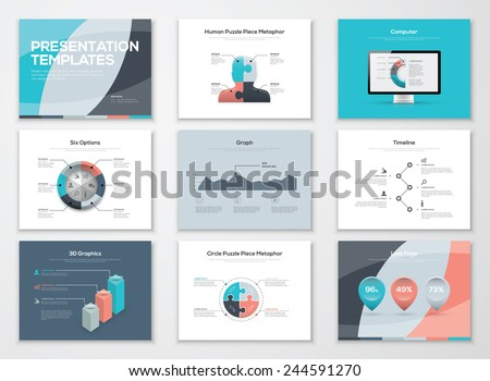 Business presentation templates and infographic vector elements. Information graphics for advertisements, magazines, booklets, websites, prints, marketing etc.