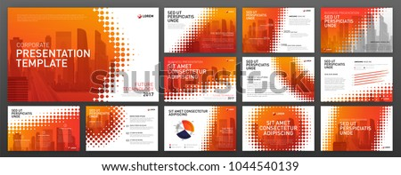 Business presentation templates set. Use for presentation background, brochure design, website slider, corporate report.