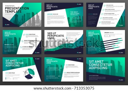 Business presentation templates with infographic elements. Use for ppt layout, presentation background, brochure design, website slider, corporate report.