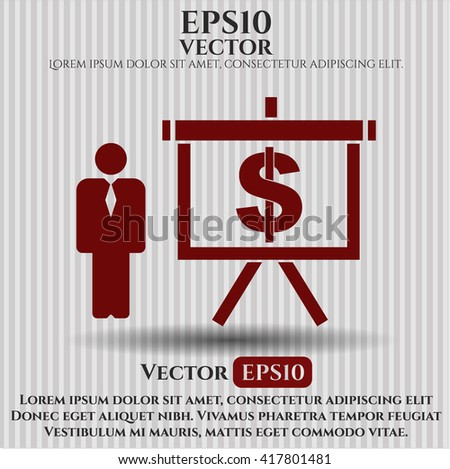 Business Presentation vector icon