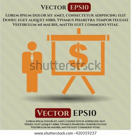 Business Presentation vector icon