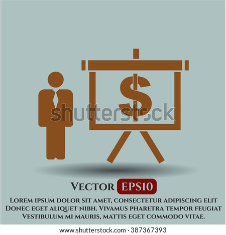 Business Presentation vector icon or symbol