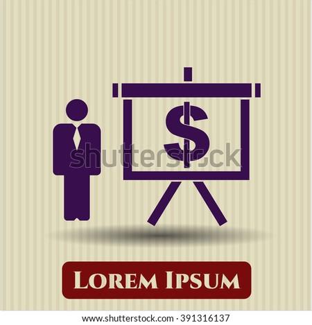 Business Presentation vector icon or symbol