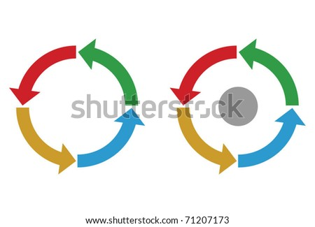 Business process diagram, colorful vector