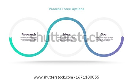 Business process. Timeline infographics with 3 steps, options. Vector chart. Сток-фото ©