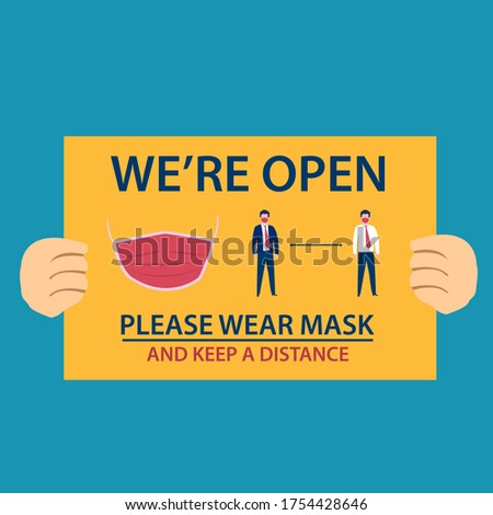 business reopening vector
