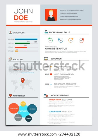business resume with