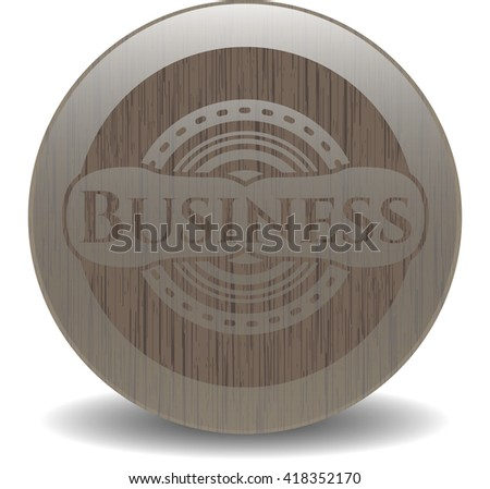 Business retro style wood emblem