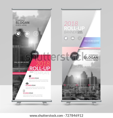 Business roll up design template, X-stand, Vertical flag-banner design layout, standee display promoting, brochure, Corporate flyer sale banner cover presentation in vector template.