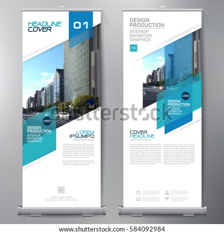 Business Roll Up. Standee Design. Banner Template. Presentation and Brochure. Vector illustration