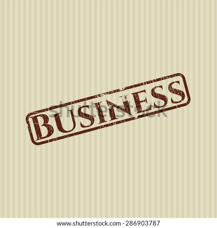 Business rubber grunge seal