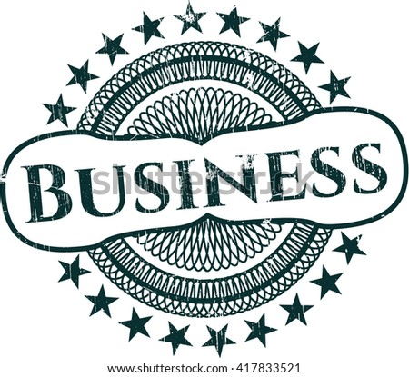 Business rubber stamp with grunge texture