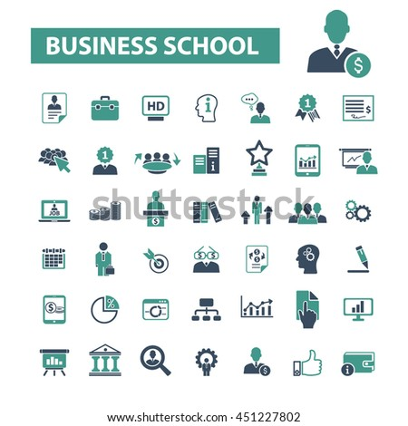 business school icons #451227802