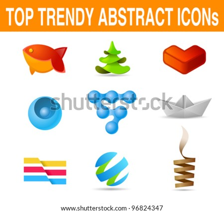 Business set of icons. Vector. New age of design Can be used as logo template