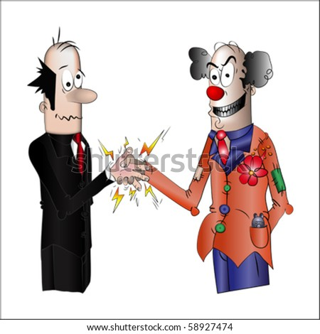 Business shaking hand, vector