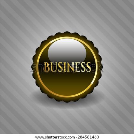 Business shiny badge