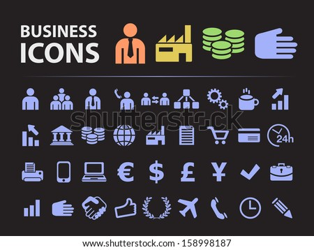 Business Silhouette Icons.