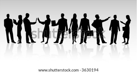 Business-silhouette people
