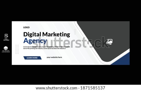 business social media cover template professional business social cover design