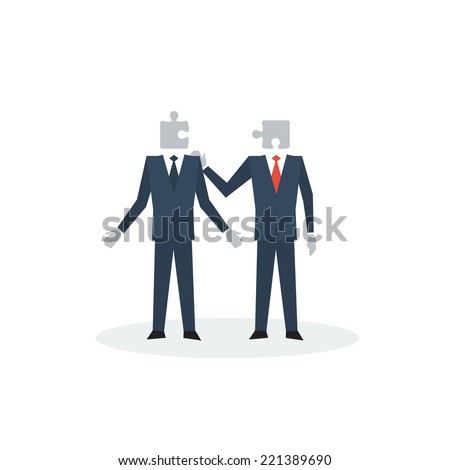 Business solution, partnership cooperation concept, team work, common ground, corporate people communication, mentoring, mutual agreement, collaboration project, companionship vector flat illustration
