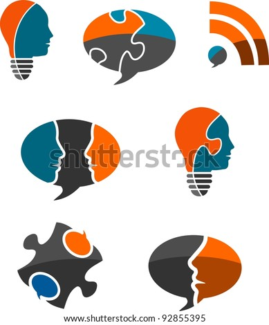 Business Solutions Icon Set - stock vector