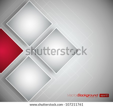 Business Squares Background - Vector Design Concept