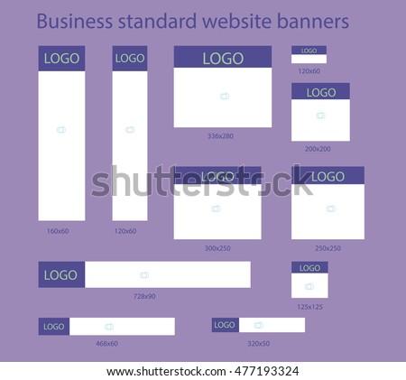 Business standard website banners template set #477193324
