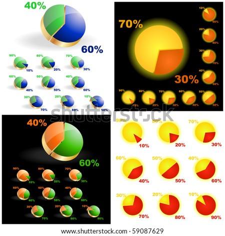 Business statistics vector. Diagram set.