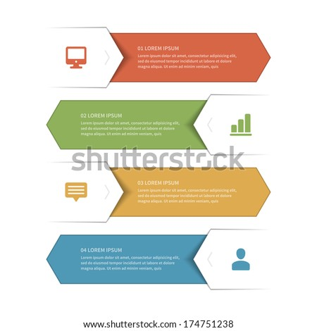 Business step options banner. Vector illustration. Infographics design template.