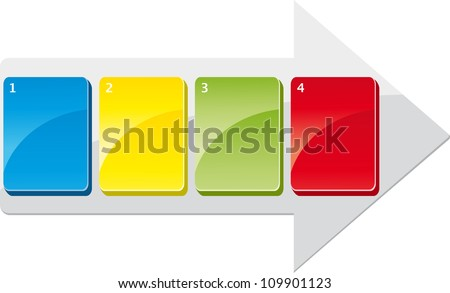 Business steps - stock vector