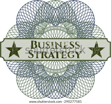 Business Strategy abstract rosette
