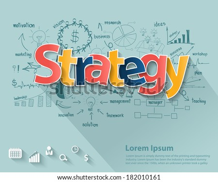 business strategy concept  with