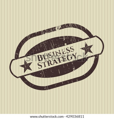 Business Strategy grunge seal
