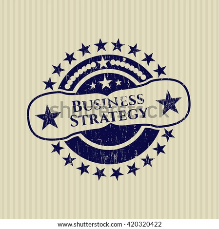 Business Strategy grunge stamp