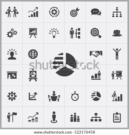 business strategy icons universal set for web and mobile