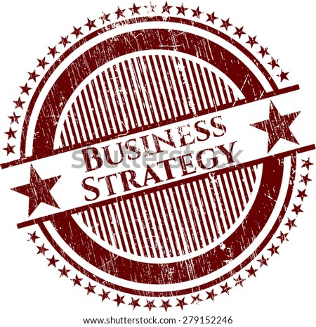 Business Strategy red rubber stamp