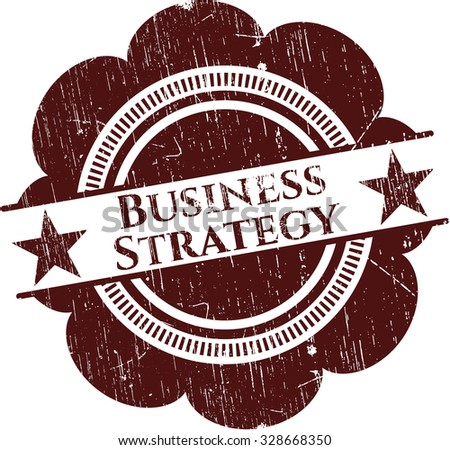 Business Strategy rubber grunge seal