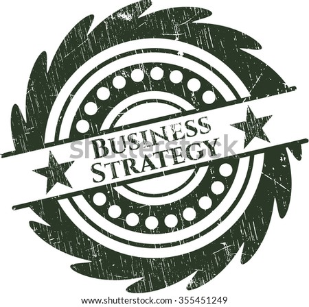 Business Strategy rubber grunge stamp