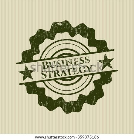 Business Strategy rubber grunge texture seal