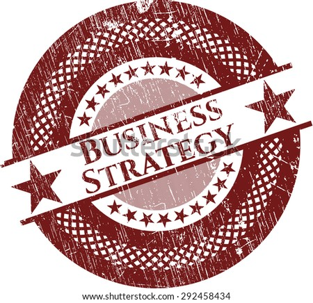 Business Strategy rubber stamp