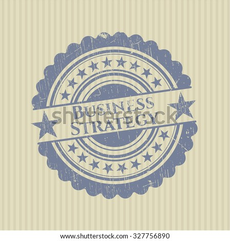 Business Strategy rubber stamp with grunge texture