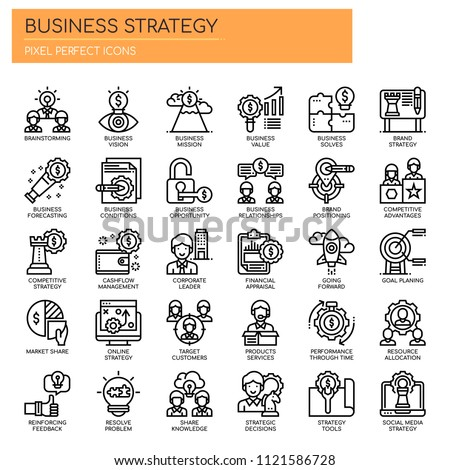 Business Strategy , Thin Line and Pixel Perfect Icons